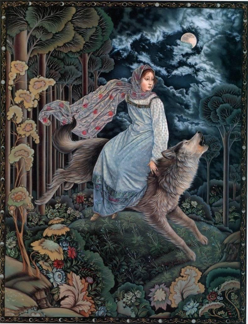 "Illustr. Laurel Long per ""The Magic Nesting Doll"""