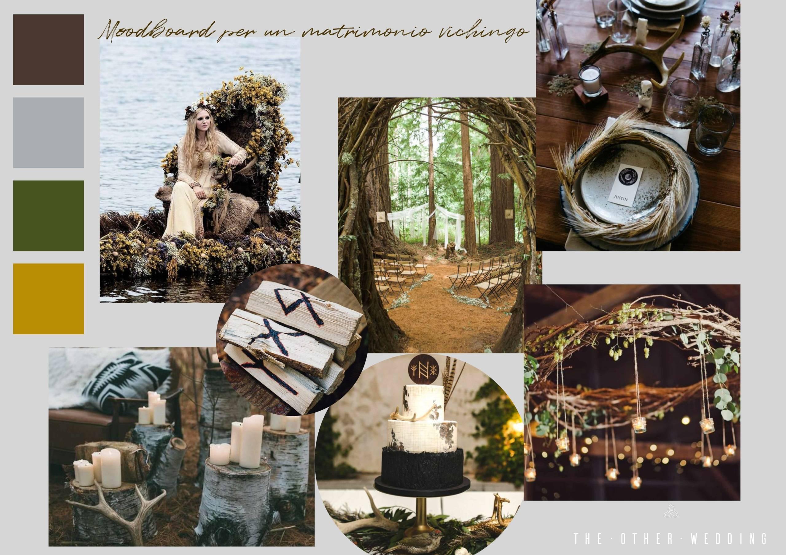 The Other Wedding_Moodboard per un matrimonio vichingo